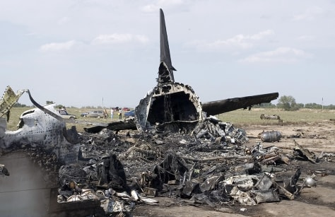 Image: Crash site of jet near Bishkek