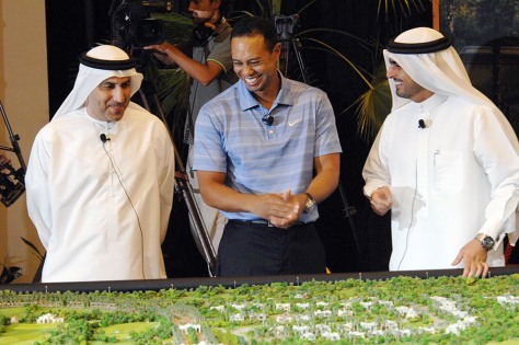 Image: Tiger Woods in Dubai