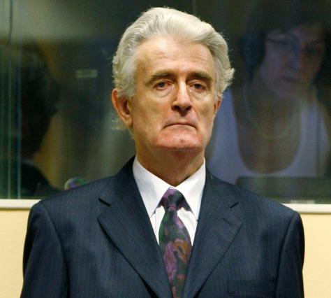 Image: Radovan Karadzic at Hague