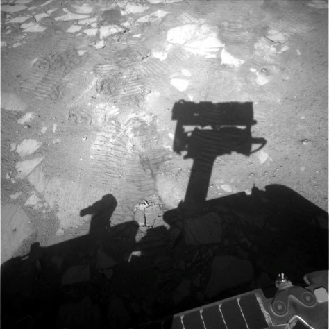 Image: Opportunity's shadow
