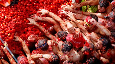 Image: Tomatina tomato fight