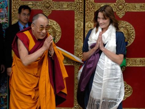 Image: Dalai Lama and Carla Bruni-Sarkozy