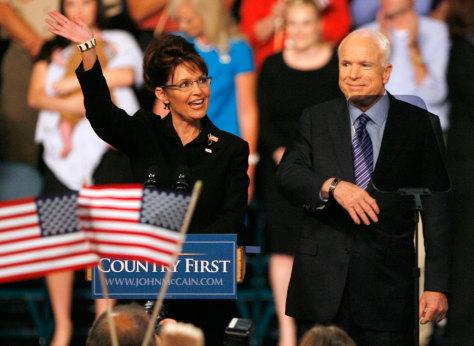 Image: Sen. John McCain and Alaska Gov. Sarah Palin