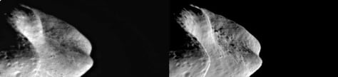 Image: Asteroid Eros and shape model