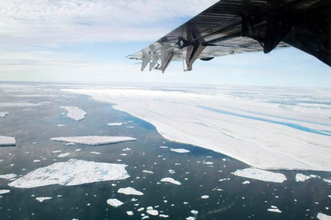 Image: Ice sections drift away