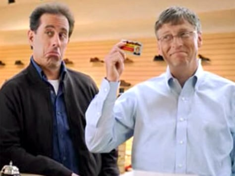 Image: Jerry Seinfeld, Bill Gates