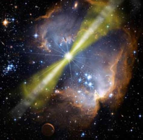 Image: Gamma ray burst