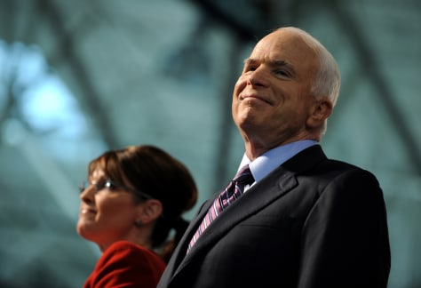 Image: John McCain and his running mate Sarah Palin