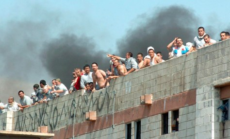 Image: Rioting inmates