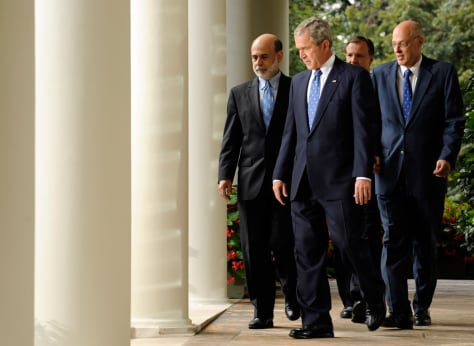 Image: George Bush, Ben Bernanke, Christopher Cox, Henry Paulson