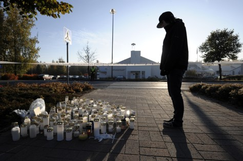 Image: Candles at Kauhajoki school.