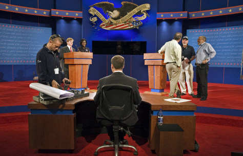 Image: Debate stage