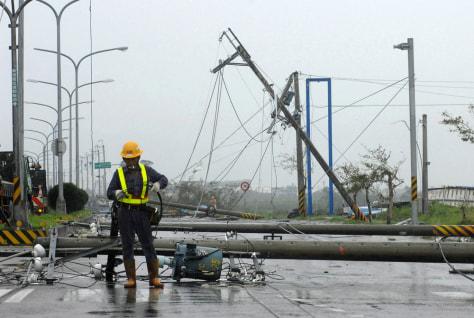Image: Typhoon damage in Taiwan