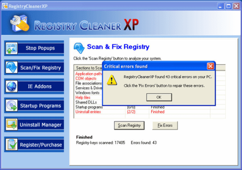 Image: Screen grab from registrycleanerxp.com