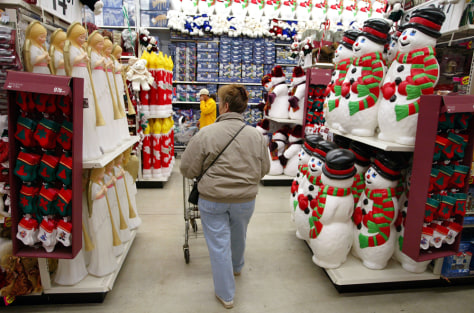 Image: Christmas shopping in Wal-Mart