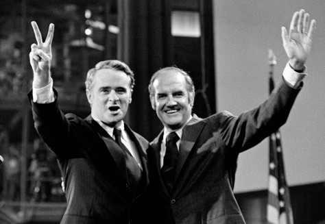 Image: Thomas Eagleton and George McGovern at the DNC in 1972
