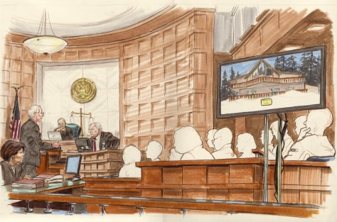 Image: Sketch of courtroom questioning