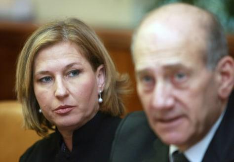 Image: Tzipi Livni, Ehud Olmert