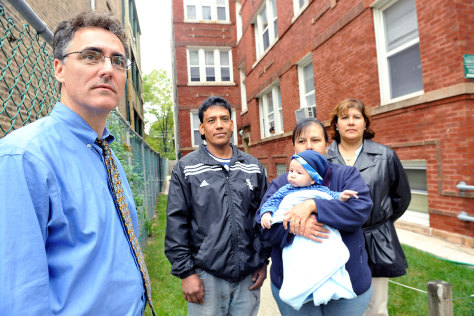 Image: Cook County Sheriff Tom Dart and tenants