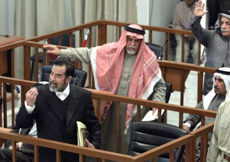 Image: Trial of Saddam Hussein