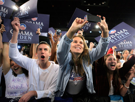 Image: Young supporters for Barack Obama