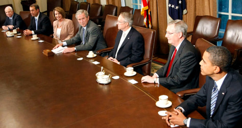 Image: U.S. leaders discuss bailout