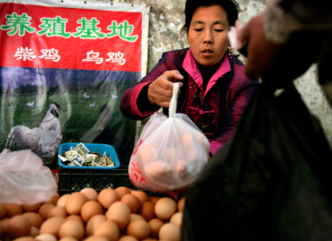 Image: Selling chicken eggs