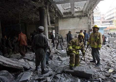 Image: Afghan suicide blast site
