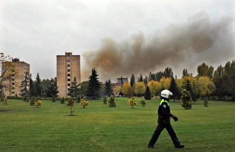 Image: Bomb exposion scene in Spain