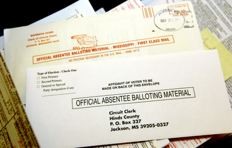 Image: Absentee ballots