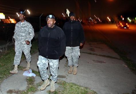 Image: Lt. Ross Wallace, Lt. Col. Leonard Rusher, Kervin Bryant