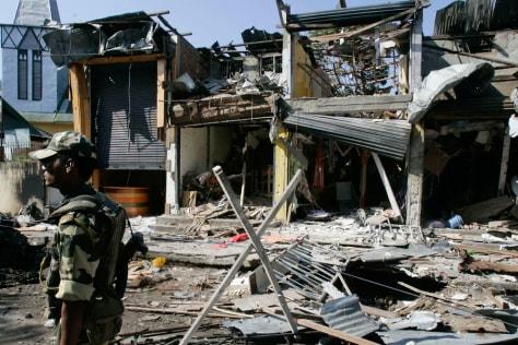 Image: Bomb blast scene