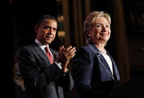 Image: Barack Obama, Hillary Rodham Clinton