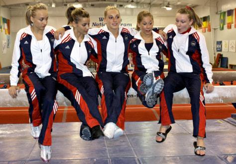 Image: Nastia Liukin, Alicia Sacramone, Samantha Peszek, Shawn Johnson, Bridget Sloan
