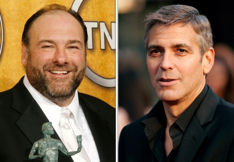 Image: James Gandolfini, George Clooney