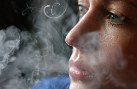 Image: Woman smoking