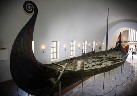 Image: The Oseberg ship at the Viking Ship Museum in Oslo.