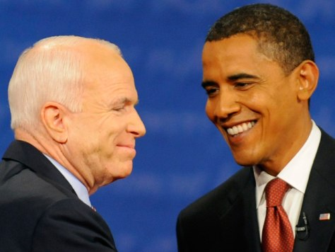 Image: John McCain and Barack Obama