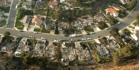 Image: Burned San Diego homes