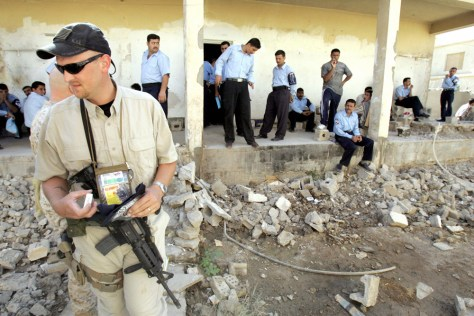 IMAGE: DynCorp officer in Iraq