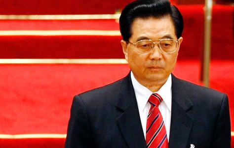 IMAGE: Chinese President Hu Jintao