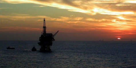 Image: Oil platform in the Gulf of Mexico