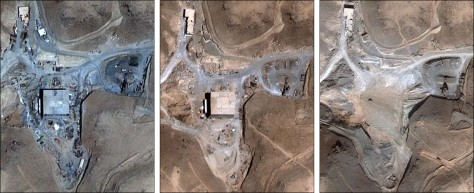 IMAGE: Satellite views of suspected Syrian nuclear facility