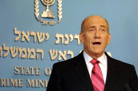 Image: Ehud Olmert.