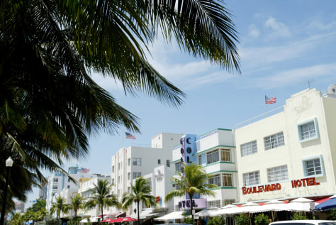 Image: Ocean Drive in the South Beach area of Miami Beach, Fla.