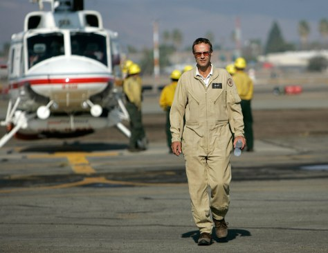 Image: Helicopter pilot Mike Wagsataff