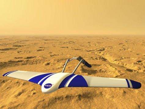 Image: NASA plane on Mars