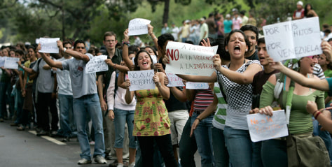 Image: Venezuelan students protest