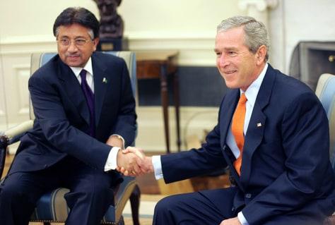 Image: Bush, Musharraf