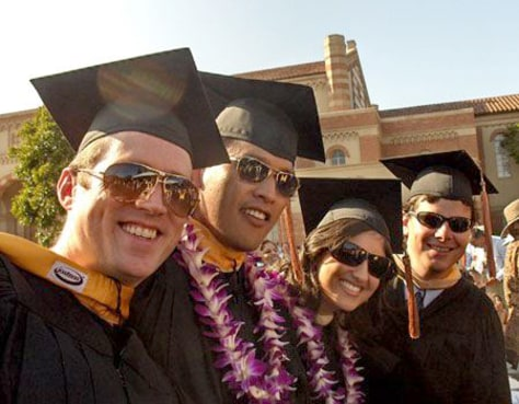Image: Graduation at UCLA's Anderson School of Management
